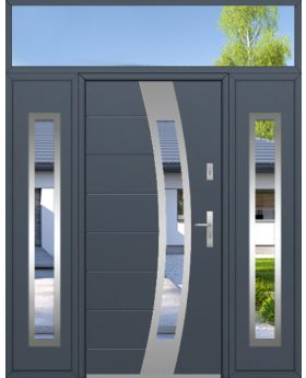 custom configuration - Fargo door with two side panels and top sidelight