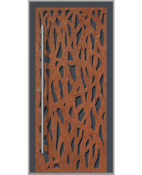 LIM Corrode  - Aluminium front door with corroded corten steel