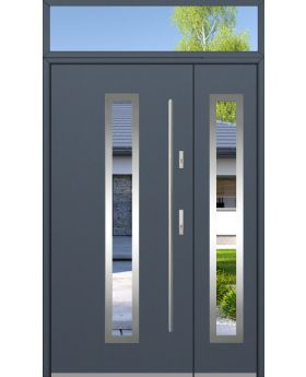 custom configuration - Fargo door with side panel and top sidelight