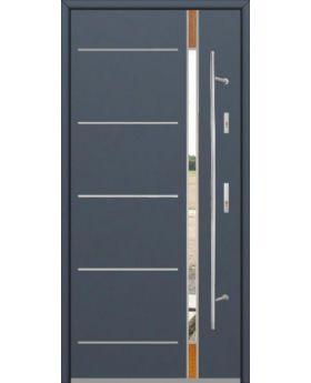 Fargo Fi04D - future inox - silver front door