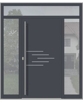 LIM door with left, right and top sidelight (view from the outside)