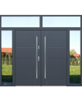 custom configuration - Fargo double door with left,right and top sidelights