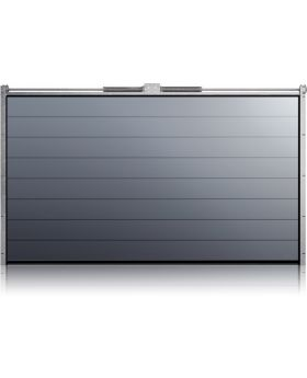 WIS 2 -  Garage door made of panels with high ribs