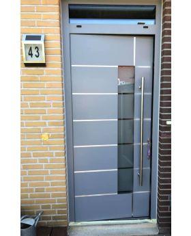 LIM door with top sidelight