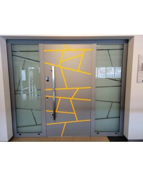 LIM door with left and right sidelight (view from the outside)