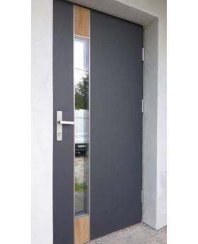 Fargo Fi06B - future inox - silver front door