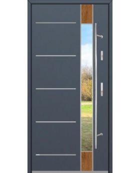 Fargo Fi06D - future inox - silver front door