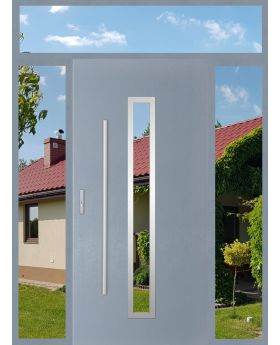 custom configuration - STA door with left, right and top sidelight (view from the outside)